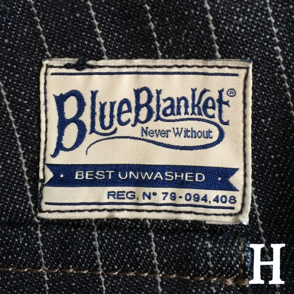 Blue Blanket Jeans IJJ Label Stitched