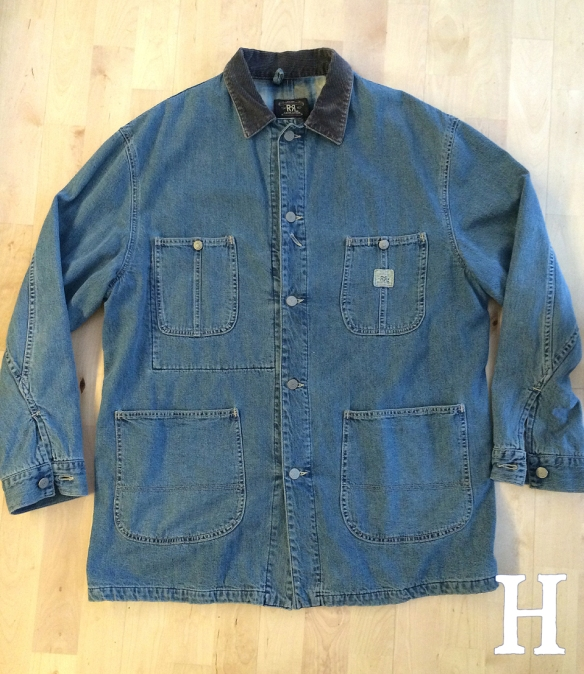 RRL Blanket Lined Denim Chore Jacket