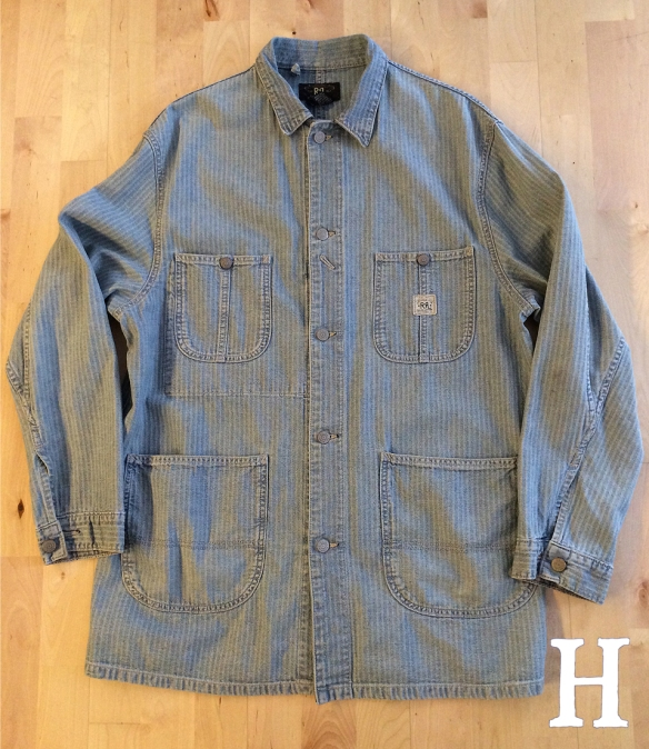 RRL Herringbone Chevron Denim Chore Jacket