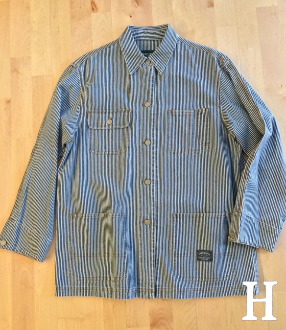 RRL Hickory Stripe Denim Chore Jacket