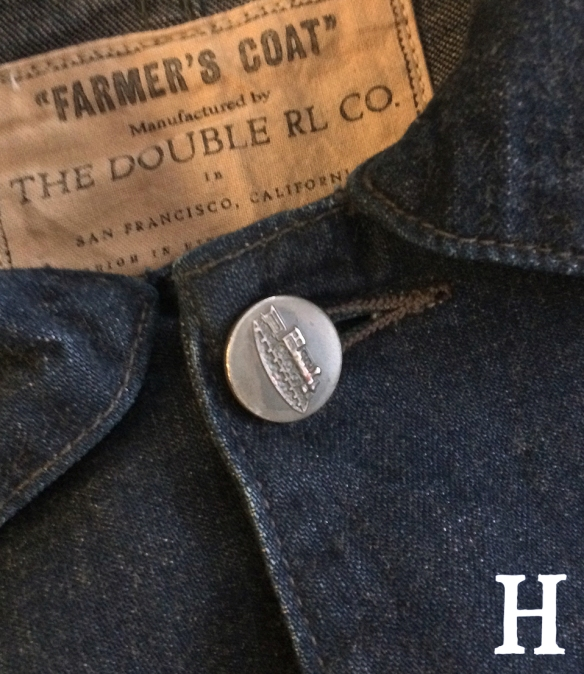 RRL Railmans Farmers Coat Denim Chore Jacket close