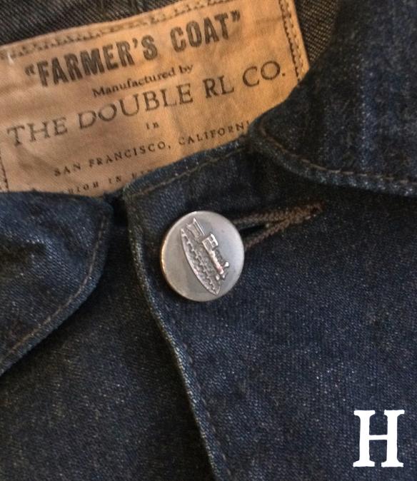 RRL Railmans Farmers Coat Denim Chore Jacket close