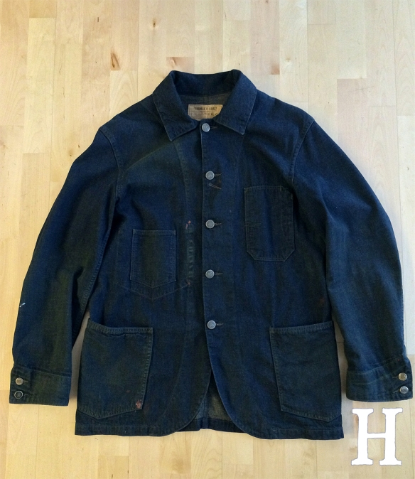 RRL Railmans Farmers Coat Denim Chore Jacket