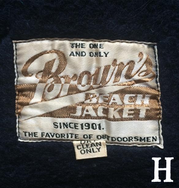 Browns Beach Vest Label